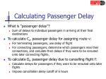 calculating passenger delay