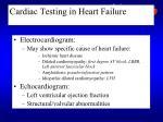 cardiac testing in heart failure