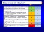 treatment of hf p ef