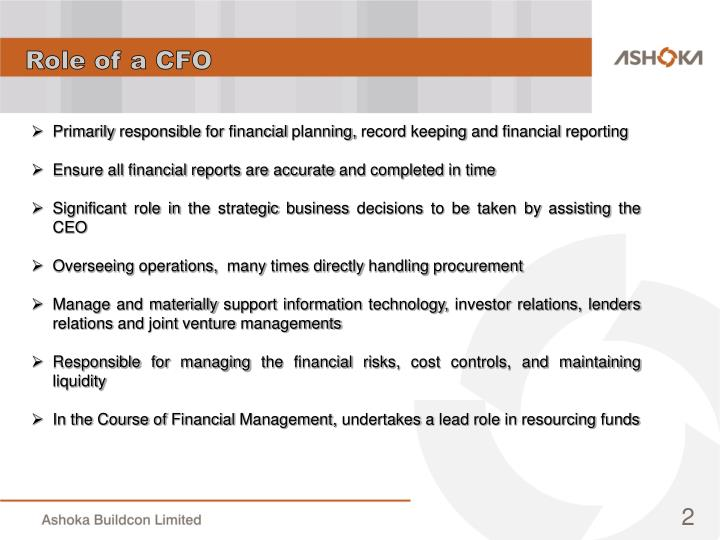 Role of a CFO