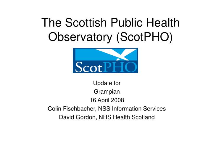 the scottish public health observatory scotpho n.