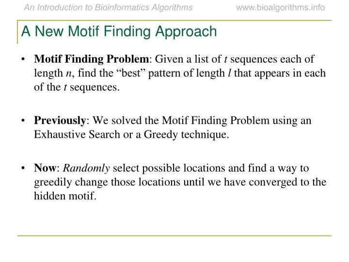 A New Motif Finding Approach