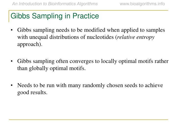 Gibbs Sampling in Practice