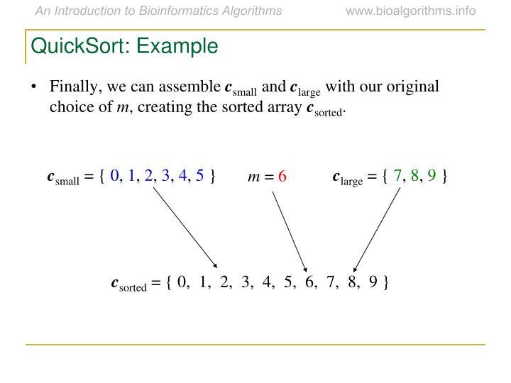 QuickSort: Example
