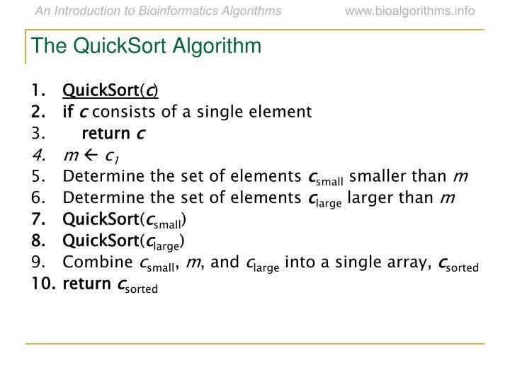The QuickSort Algorithm