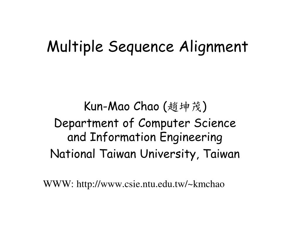Multiple sequence alignment tuesday, feb suggested installation.
