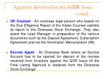 agencies involved in the gdr issue contd1