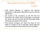 procedure for issue of gdrs contd1