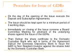 procedure for issue of gdrs contd3