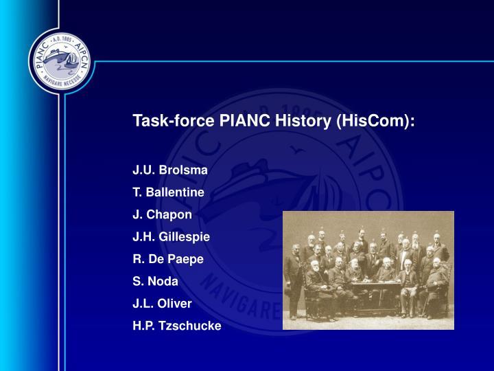 Task-force PIANC History (HisCom):