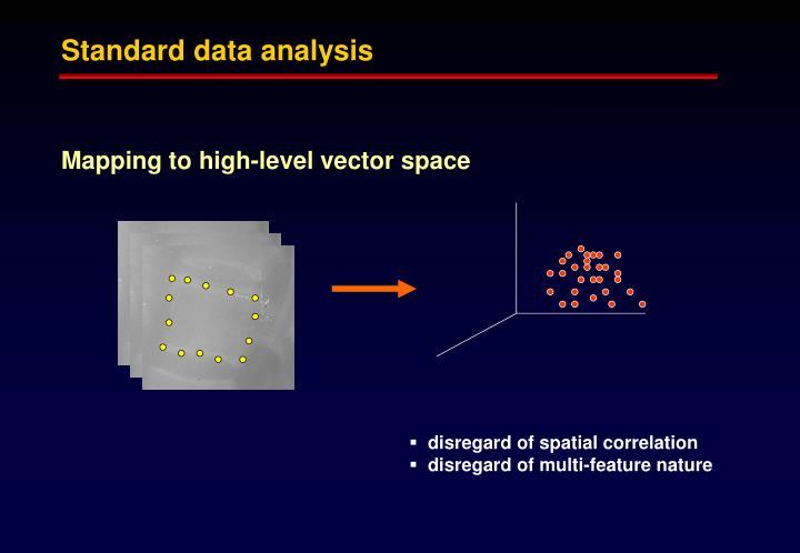 Standard data analysis