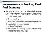 improvements in trucking fleet fuel economy