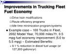 improvements in trucking fleet fuel economy1