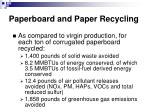 paperboard and paper recycling