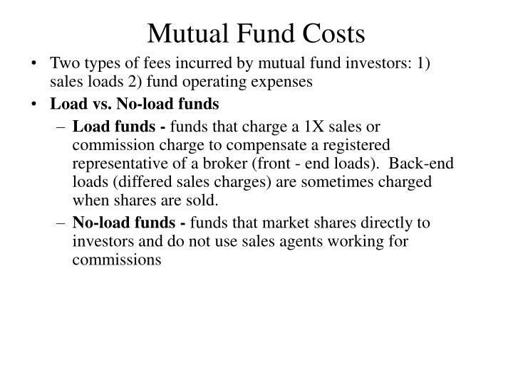 Mutual Fund Costs
