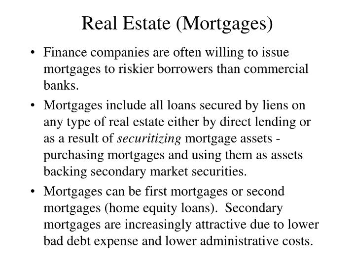 Real Estate (Mortgages)