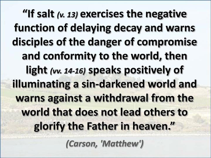 """""""If salt"""