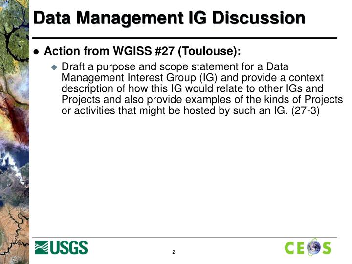 Data management ig discussion1