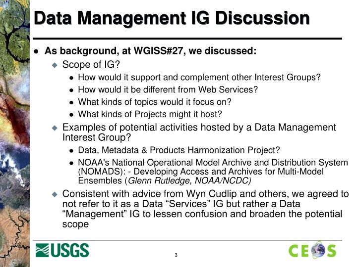 Data management ig discussion2