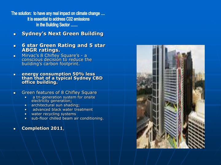 Sydney's Next Green Building