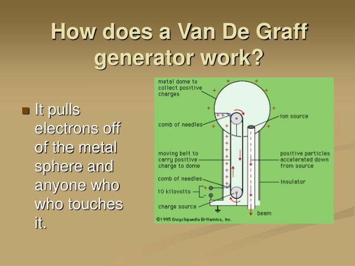 How does a Van De Graff generator work?
