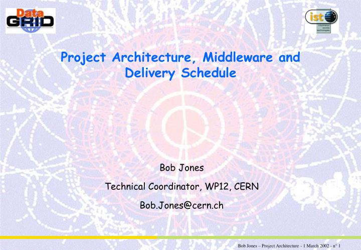 project architecture middleware and delivery schedule