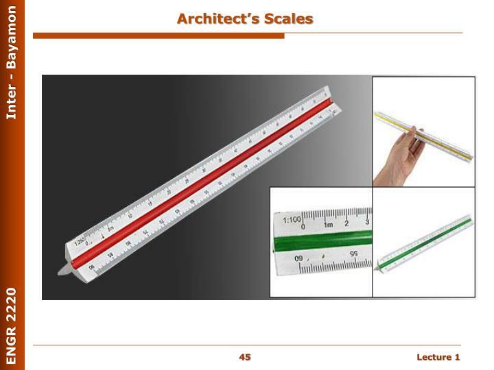 Architect's Scales
