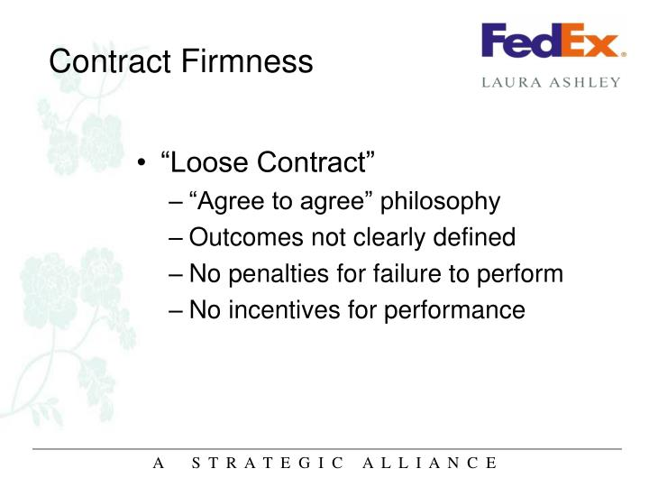 Contract Firmness