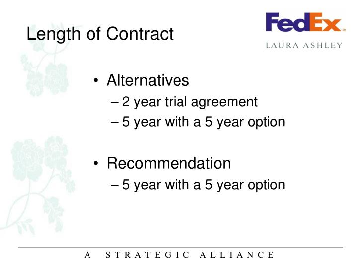 Length of Contract