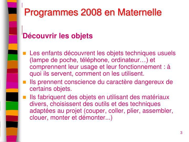 Programmes 2008 en maternelle1