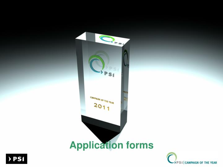 application forms n.