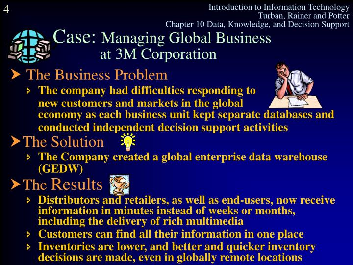 The company had difficulties responding to new customers and markets in the global