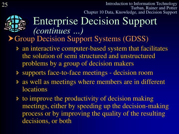 Enterprise Decision Support