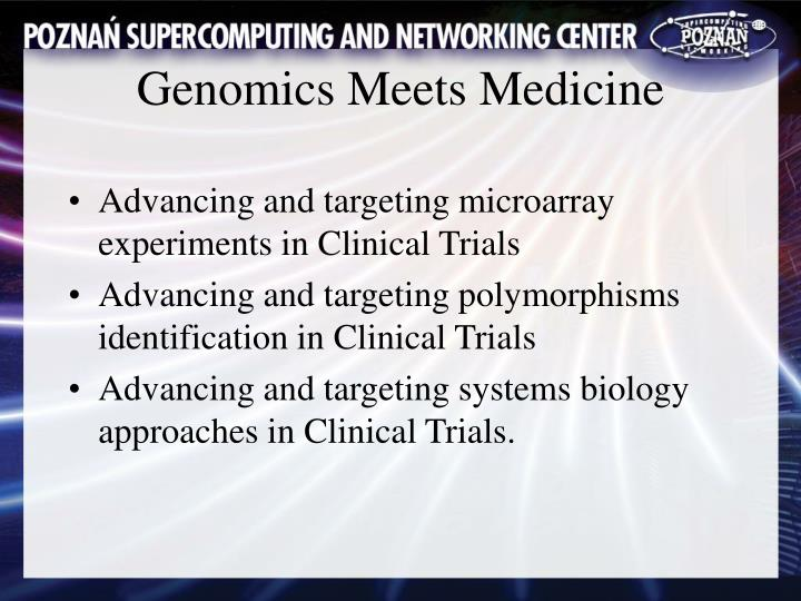 Advancing and targeting microarray experiments in Clinical Trials