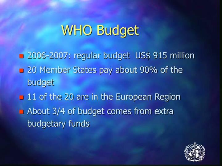 WHO Budget