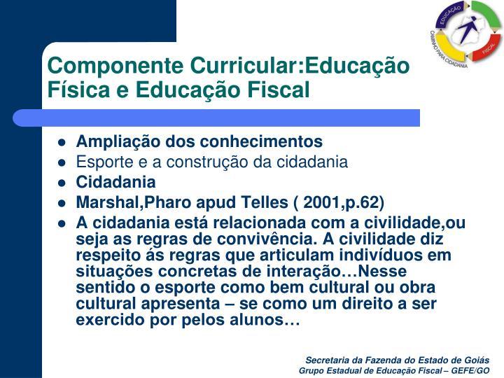 Componente curricular educa o f sica e educa o fiscal