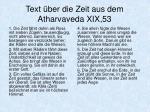 text ber die zeit aus dem atharvaveda xix 53