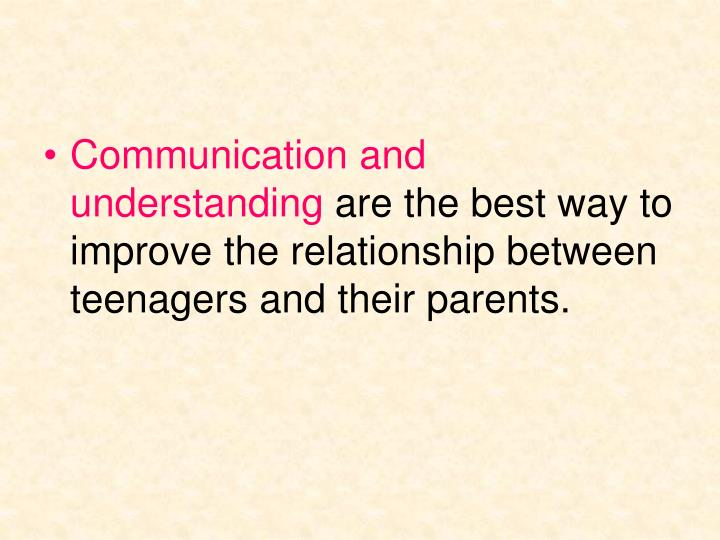 the relationship between parents and their Autism and family relationships for instance, most parents naturally expect their child to go to college or to pursue a career continued.