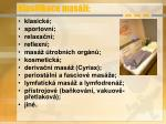 klasifikace mas