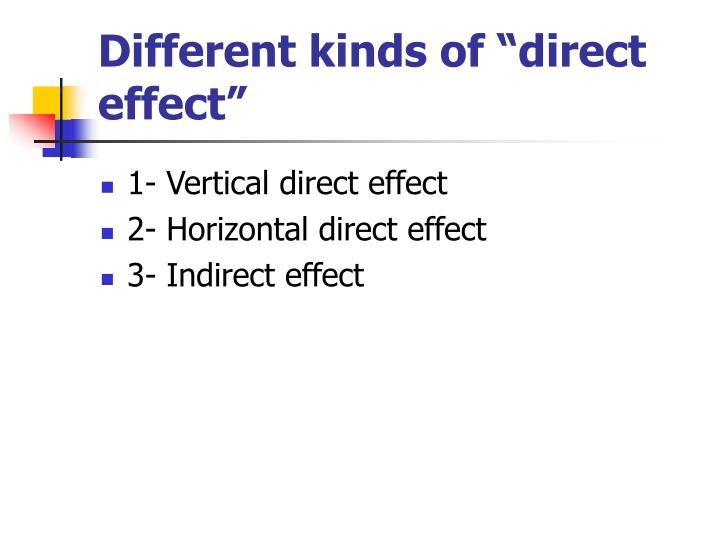 vertical and horizontal direct effect