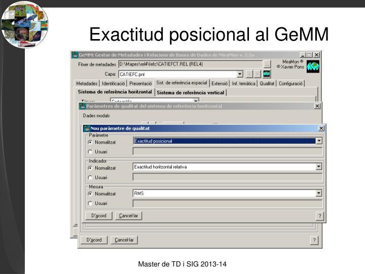 Exactitud posicional al GeMM