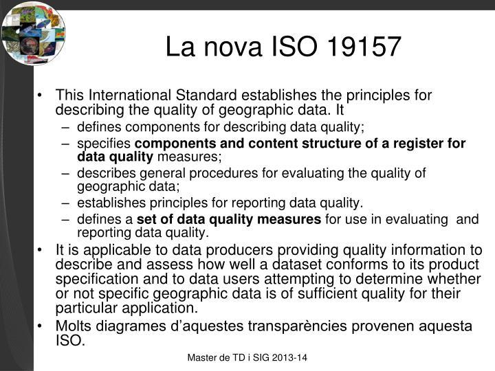 La nova ISO 19157