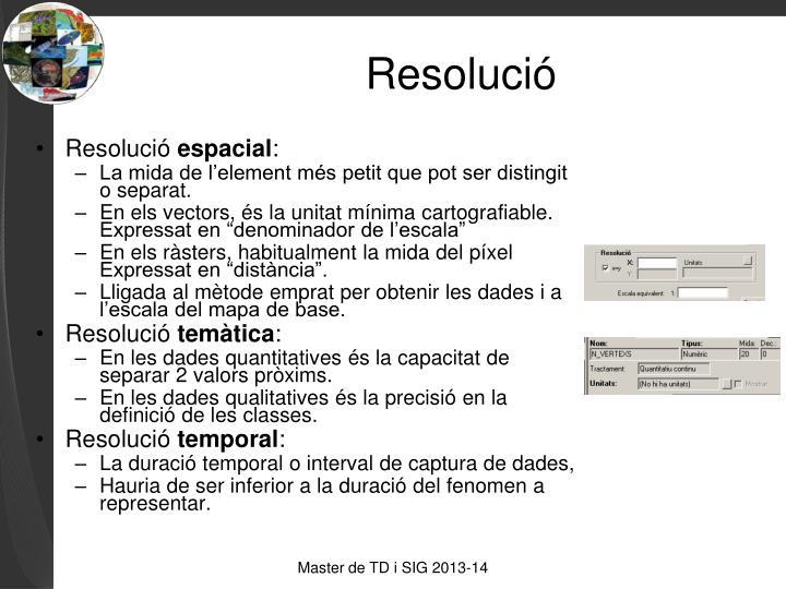 Resolució