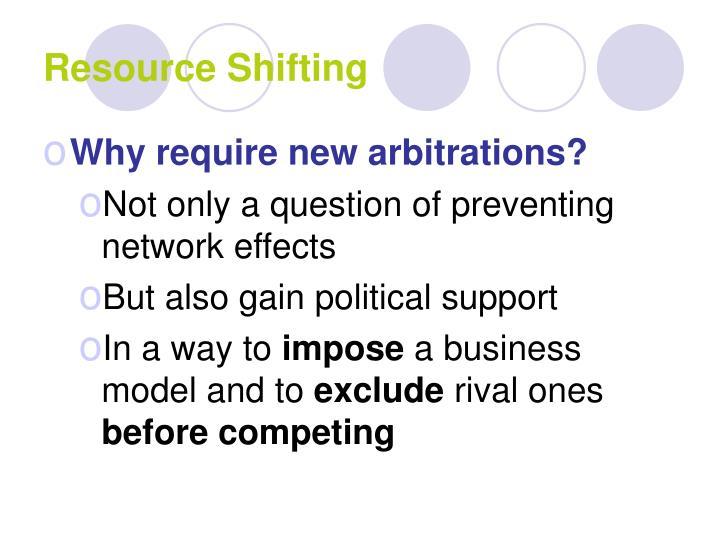Resource Shifting