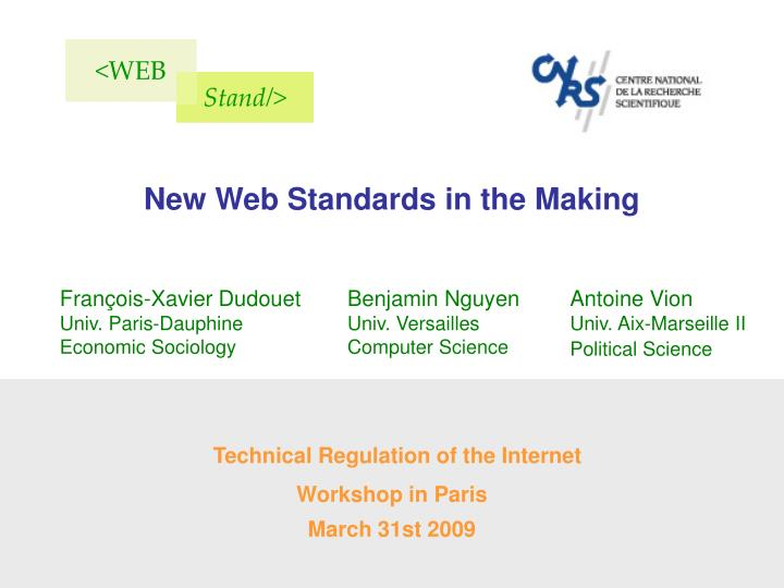 Technical regulation of the internet workshop in paris march 31st 2009