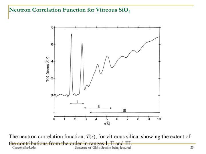 Neutron Correlation Function for Vitreous SiO