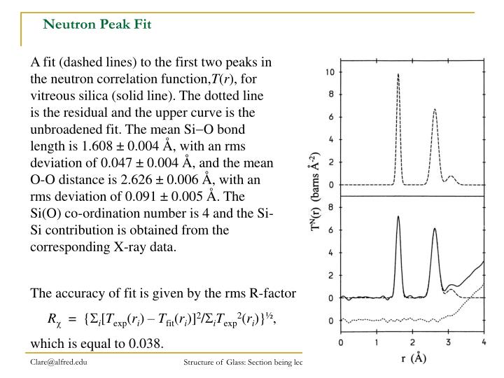 Neutron Peak Fit