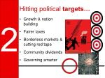 hitting political targets