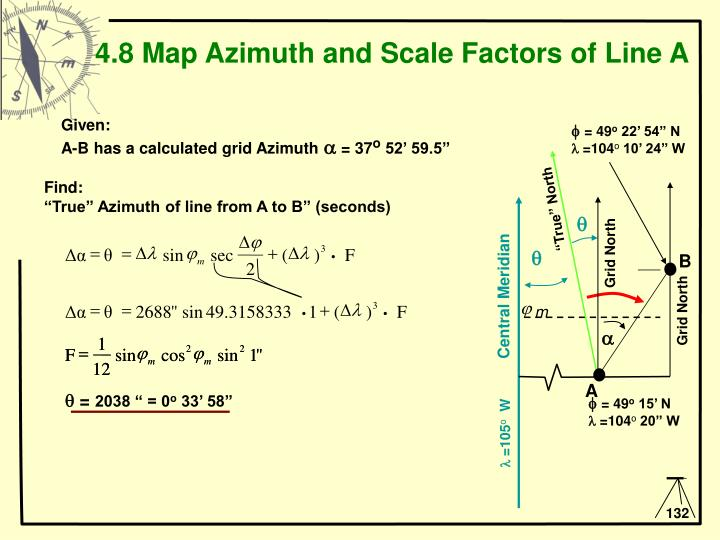 PPT - 4.6 Transformation Between Geographic and UTM ...