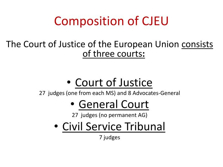 the european court of justice essay The european court of justice is the judicial authority of the european union it works with the courts and tribunals of the 27 member states, and in doing so it ensures that application and interpretation of european union law is uniform across all member states.